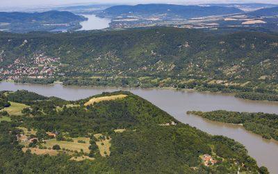 Látványos légifotók készültek a Dunakanyarról